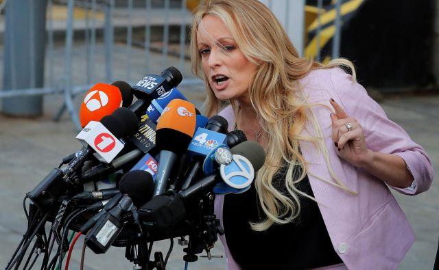 Je ameriški predsednik Trumpporno igralki Stormy Daniels plačeval za molk? FOTO: Lucas Jackson/Reuters