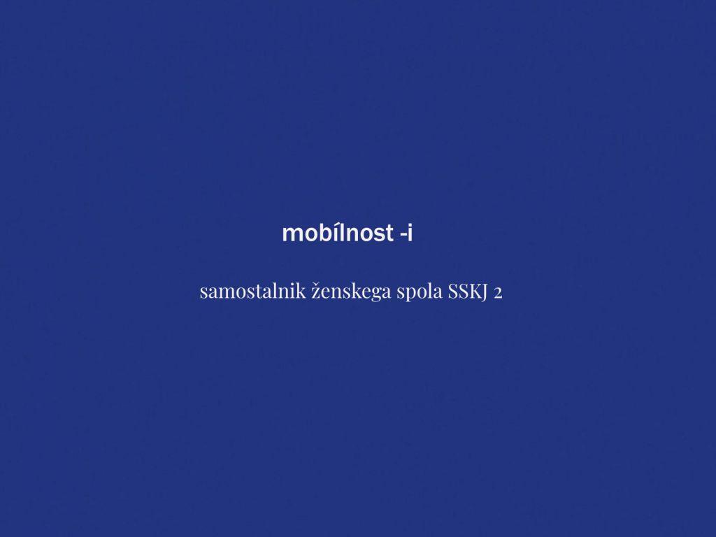 Mobílnost