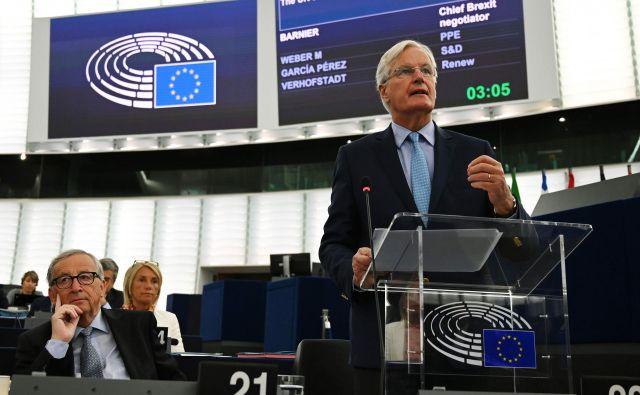 Glavni pogajalec EU za brexit Michel Barnier je opozoril, da Unija v razpravah »ni bila ideološka, marveč pragmatična«. FOTO: Frederick Florin/AFP