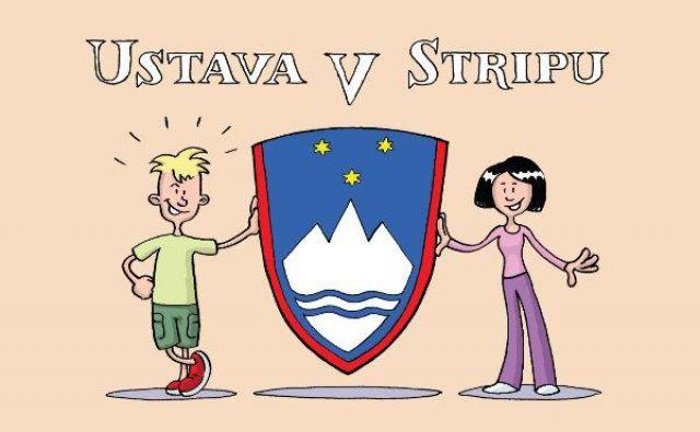 Ustavo v stripu so kot pripomoček pri razumevanju demokracije in aktivnega državljanstva dobili vsi letošnji slovenski sedmošolci Ilustracija Zoran Smiljanić