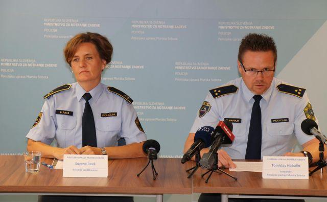 Komandir Tomislav Habulin je predstavil uspehe prekmurskih policistov. FOTO: PP Murska Sobota