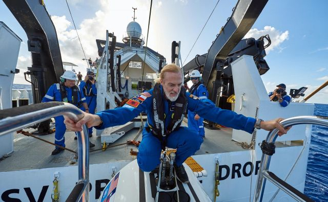 Victor Vescovo ves čas išče meje, v zadnjem času v globinah. FOTO: Five Deeps Expedition