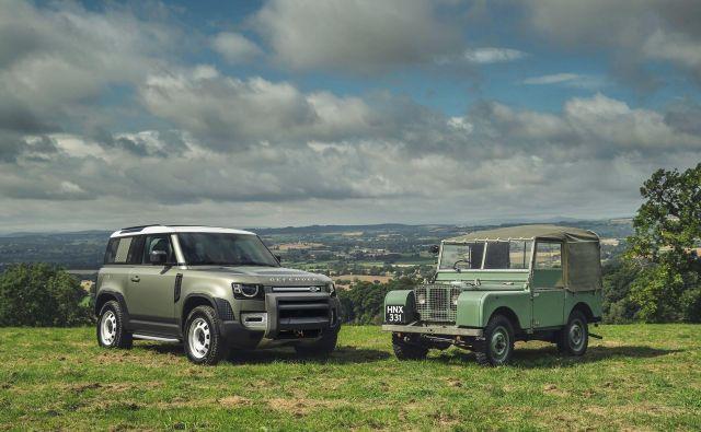 Defender nekoč in danes.Enega pravih terencev, ki je svojo zgodovino začel pisati že dolgo nazaj, so spet oživili. Foto Land Rover