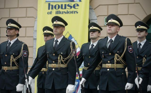 Častna stra�ža slovenske vojske Foto: Blaž� Samec/Delo