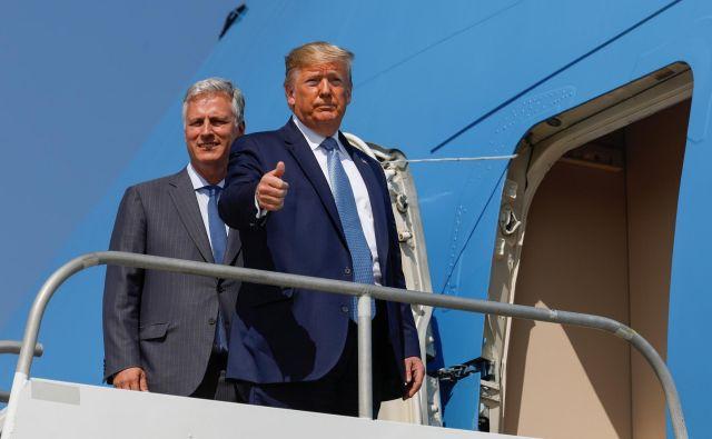Ameriški predsednik Donald Trump za zdaj ni naklonjen vojaškemu odgovoru. Foto Reuters