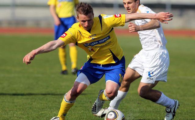 Dare Vršič je glavni adut Kopra, proti svojemu nekdanjemu klubu Mariboru je zabil dva mojstrska gola. Foto Voranc Vogel