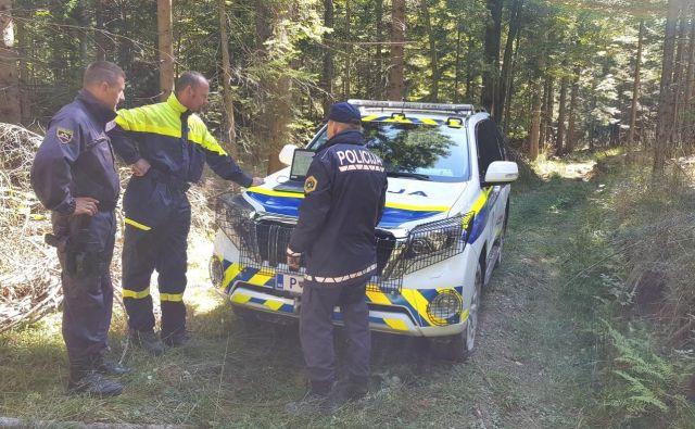 Včeraj je pogrešanega Italijana na Vojskem iskalo več kot 40 policistov, gasilcev in domačinov. FOTO: PU Nova Gorica