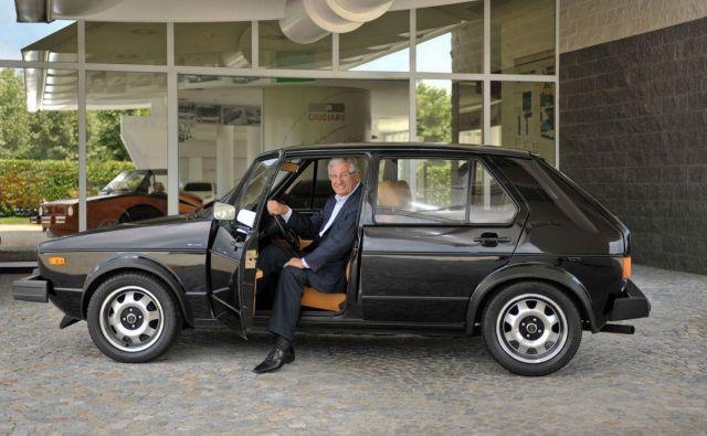 Giorgetto Giugiaro je ponosen na svojega golfa. FOTO: Giugiaro Design
