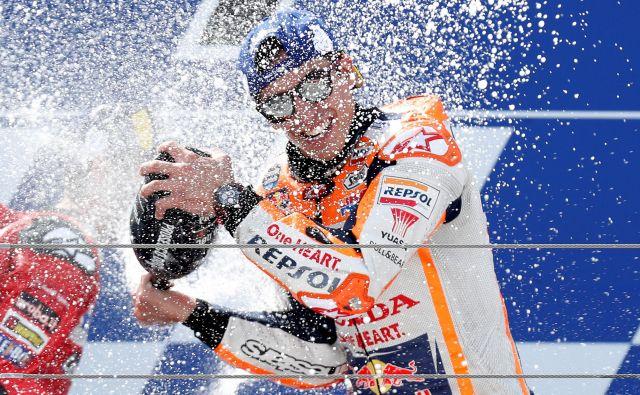 Marc Marquez je na VN Aragonije slavil že osmo letošnjo in skupno 52. zmago v motoGP. FOTO: Reuters