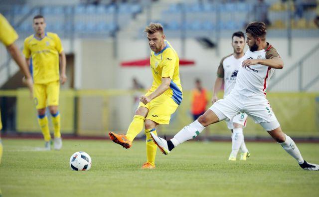 Slobodan Vuk je bil v Velenju eden od ključnih domžalskih nogometašev pri tesni zmagi. FOTO: Uroš Hočevar/Delo