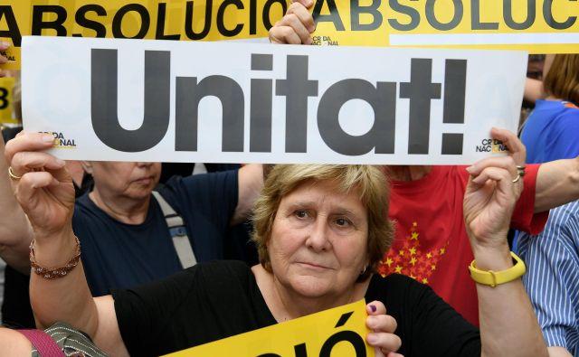 Sodba katalonskim politikom in družbenim voditeljem bo znana jeseni. FOTO: Lluis Gene/AFP