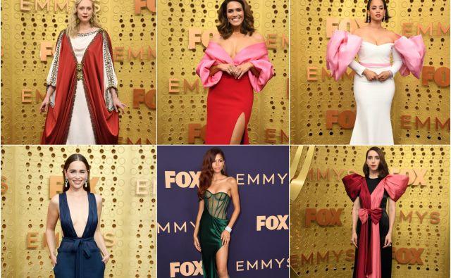 V fotogaleriji si poglejte, kaj so zvezdniki oblekli za podelitev nagrad emmy. FOTO: AFP/Reuters