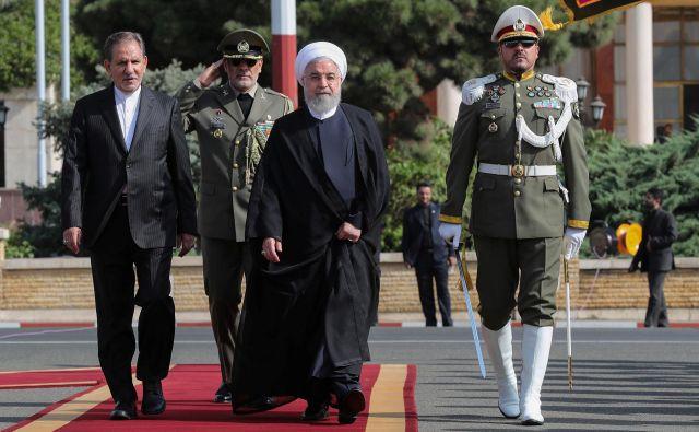 Iranski predsednik Hasan Rohani pred odhodom v New York na generalno skupščino OZN. Foto: Reuters