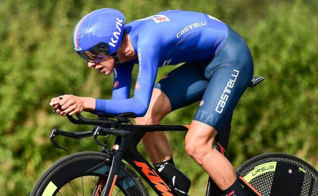 Antonio Tiberi je zmagal kljub težavam s kolesom.Foto UCI