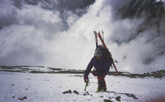 9. maj 1996, Davo na Everestu pod taborom 2, 7800 metrov visoko. FOTO: Viki Grošelj