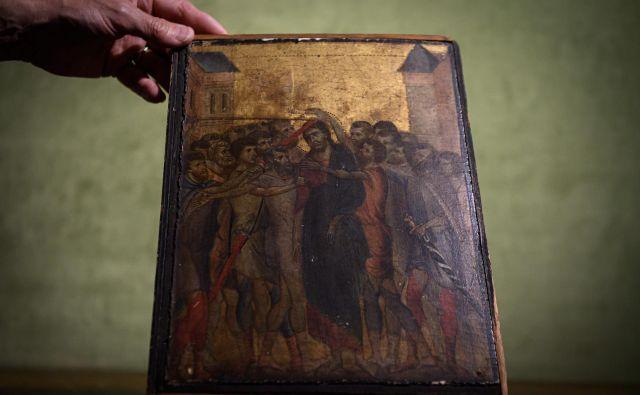 27. oktobra bodo sliko poskušali prodati na dražbi v Senlisu, njeno vrednost ocenjujejo na štiri do šest milijonov evrov. FOTO: Philippe Lopez/AFP