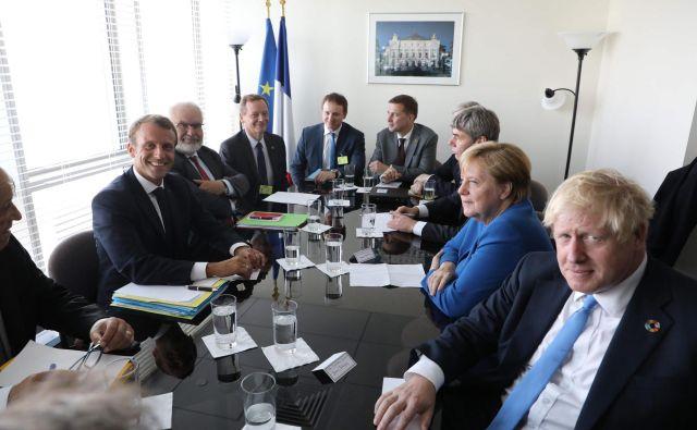 Voditelji osrednjih evropskih držav v New Yorku. FOTO: Ludovic Marin/Afp