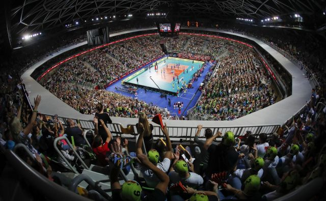 Arena Stožice med četrtfinalno tekmo Rusija - Slovenija.Foto Uroš Hočevar