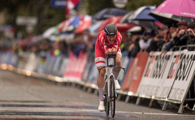 Danec Mikkel Bjerg je tretjič zapored postal svetovni prvak v kronometru! Foto: AFP