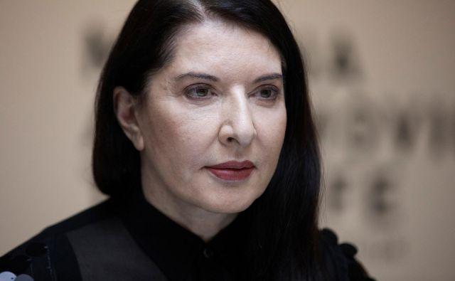 »Umetniško delo morate vzeti kot vprašanje življenja in smrti,« pravi Marina Abramović. Foto Reuters