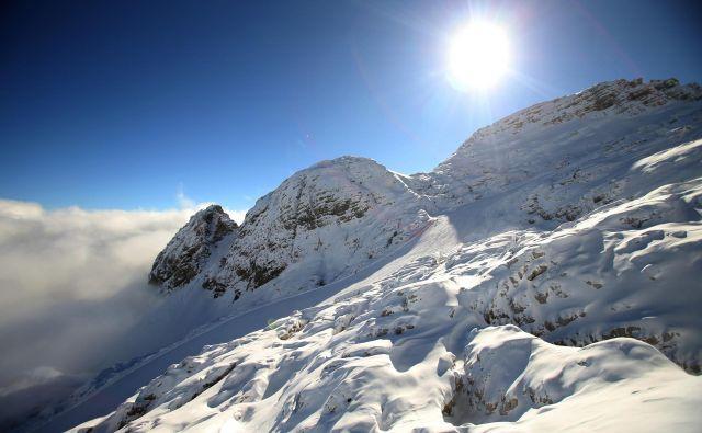 Na Kaninu si zima zasluži veliko začetnico. Foto Jure Eržen
