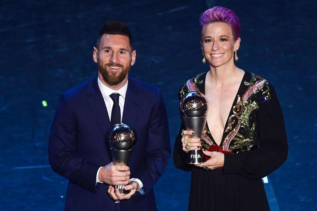 Lionel Messi šestič najboljši na svetu, Megan Rapinoe prvič