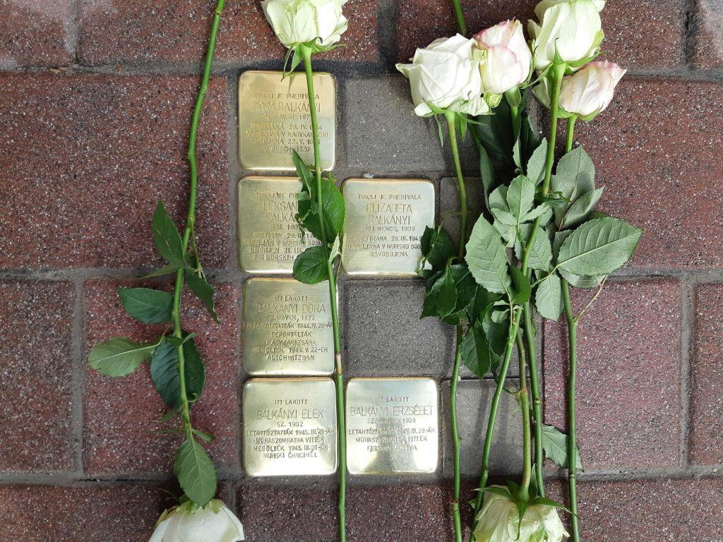 Tlakovci spomina na žrtve holokavsta