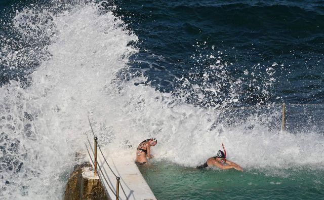 Gladina oceanov se bo povečevala še stoletja. Ob koncu stoletja bo narasla za 30 do 60 centimetrov, tudi če bomo omejili segrevanje na dve stopinji. FOTO: Peter Parks/AFP