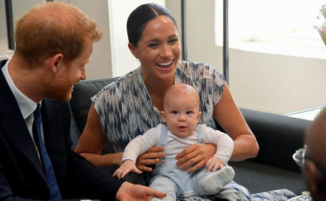 Princ Harry, Archie in Meghan FOTO: Toby Melville Reuters