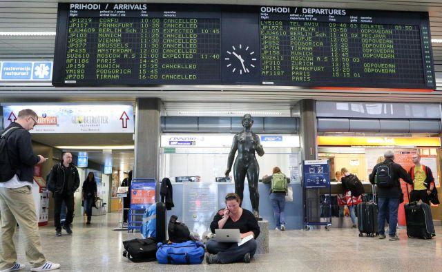 Letališče Jožeta Pučnika Ljubljana je med najmanjšimi, a je za mobilnost Republike Slovenije pomembno, kar se vidi ob sedanjih prekinitvah letov Adrie Airways. FOTO: Marko Feist/Slovenske novice