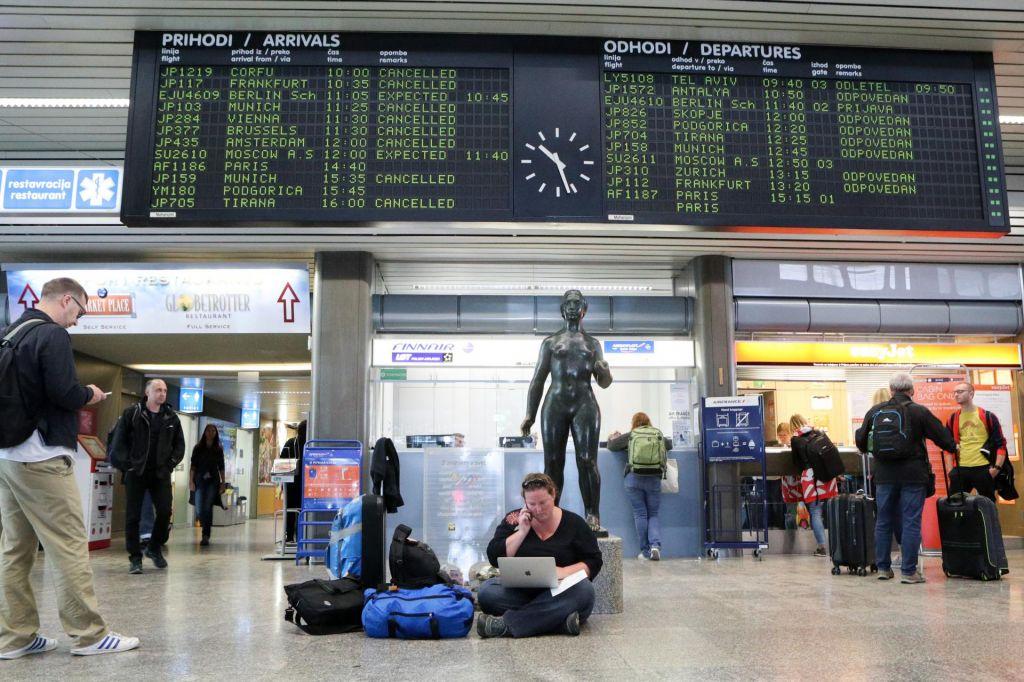 FOTO:Kako so stečaji družb vplivali na letališča