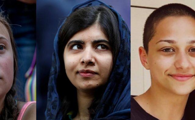Greta, Malala in Emma. FOTO: Reuters, Wikipedija