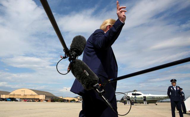 Smo v vojni, pravi ameriški predsednik Donald Trump. Foto Reuters