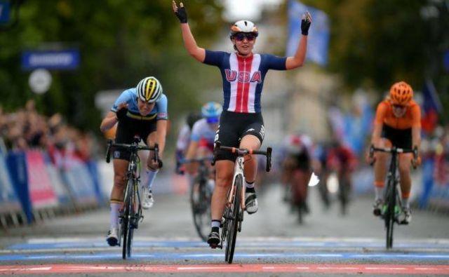 V dirki, polni padcev, se je najbolje znašla Megan Jastrab. FOTO: Getty Images