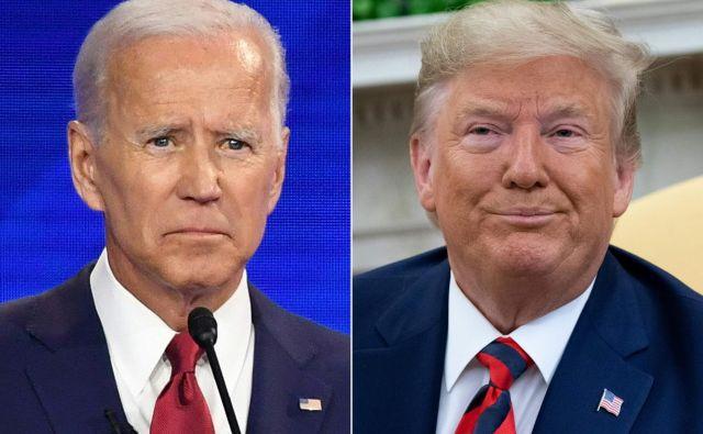 Osrednji osebnosti ukrajinskega škandala: nekdanji podpredsednik Joe Biden in sedanji predsednik Donald Trump Foto AFP