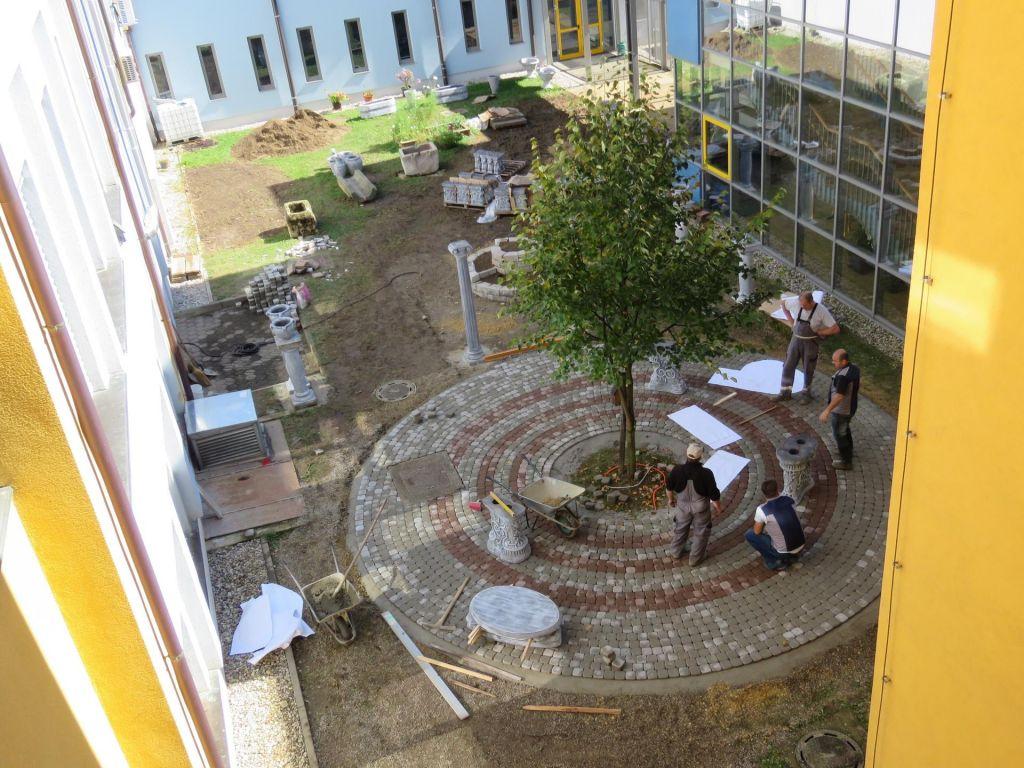 Na eni od ptujskih osnovnih šol nastaja rimski botanični vrt