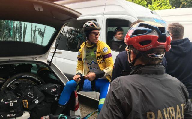 Primoža Rogliča in druge slovenske kolesarje jutri čakajo izjemno zahtevne razmere. FOTO: Miha Hočevar