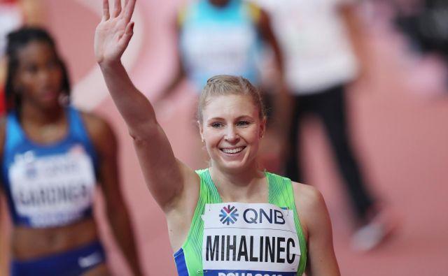 Kljub temu, da je Maja Mihalinec le za las zgrešila polfinale na 100 metrov, je bila z nastopom zadovoljna. FOTO: Reuters