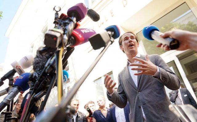 Sebastian Kurz bo imel več možnosti pri sestavljanju nove vlade. FOTO: Georg Hochmuth/AFP