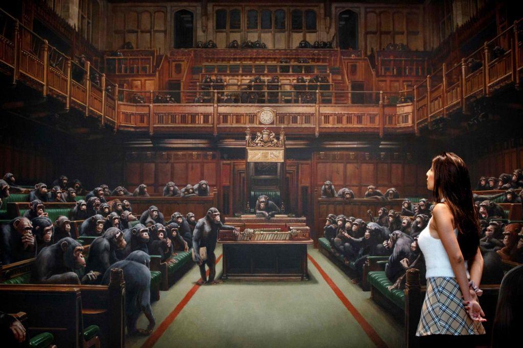 Banksyjev parlament opic gre na dražbo