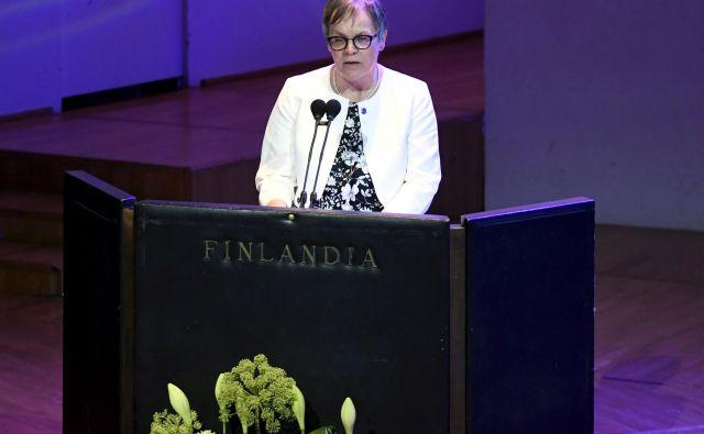 Ob podelitvi nagrade Vaclava Havla je predsednica parlamentarne skupščine Sveta EvropeLiliane Maury Pasquier poudarila, da človekove pravice nimajo meja. FOTO: Reuters