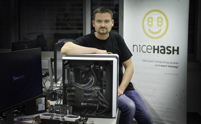 Kar se je dogajalo v prejšnjih časih, bi lahko pripisali moji naivnosti, je dejal Matjaž Škorjanc pred dvema letoma, ko so podjetju Nicehash ukradli bitcoine. FOTO: Jože Suhadolnik