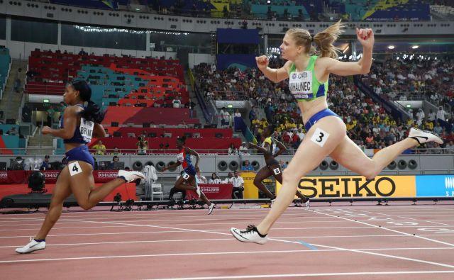 Maja Mihalinec si pred prvenstvom ni predstavljala, da bo 12. na svetu na 200 metrov. Foto Reuters