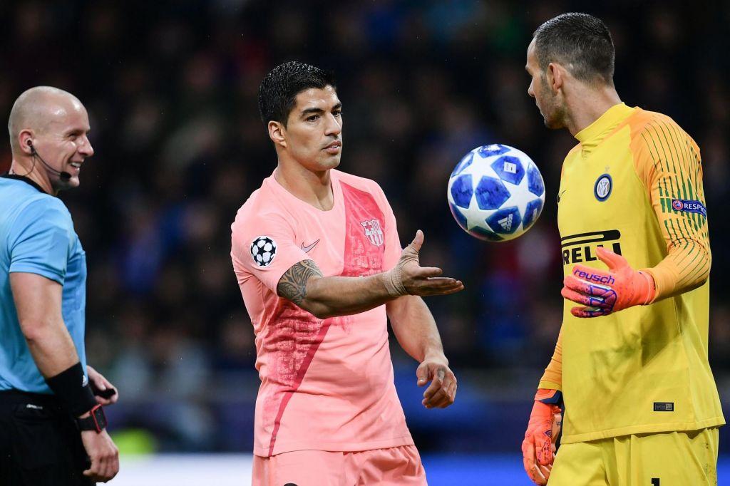 FOTO:Nad Handanovića najprej Griezmann in Suarez, morda tudi Messi
