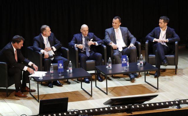 Na konferenci AmCham so spregovorili o družinskih podjetjih in investitorjih v Sloveniji. FOTO: Leon Vidic/Delo