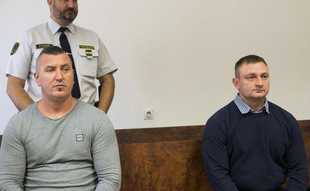 Edis Ičanović (levo) krivde ni priznal, Jasmin Alagić pa se je pokesal. Foto S. N.