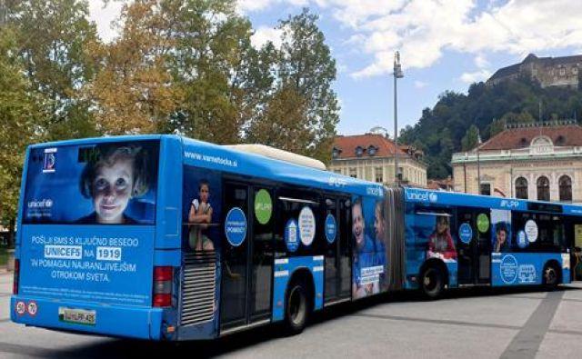 Unicefove Varne točke odslej tudi na ljubljanskih mestnih avtobusih. FOTO: LPP