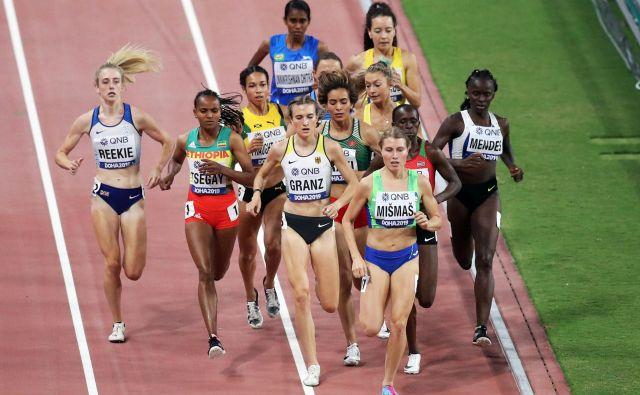 Maruša Mišmaš v teku na 1500 metrov ni zmogla finiša tekmic. FOTO: Reuters