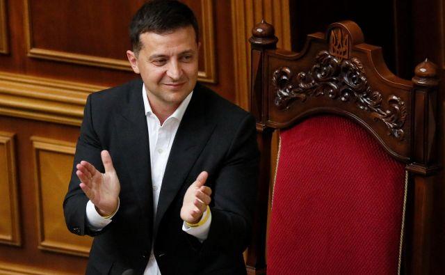 Zelenski je sprejel »Steinmeierjevo formulo« za reševanje krize na jugovzhodu Ukrajine. Foto Reuters