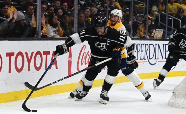 Anže Kopitar, kapetan Kraljev, je pripravljen uresničevati visoke cilje dvakratnih prvakov NHL. FOTO Reuters